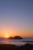 oglądanie zachodu słońca Obraz Stock