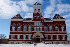 Ogle County Courthouse. This is a Winter picture of the Ogle County Courthouse in Oregon, Illinois.  The courthouse was designed by George O. Garnsey, is an Stock Images