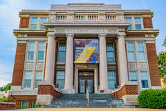 Oglebay Hall at West Virginia University. Oglebay Hall and Ming Hsieh Hall on the campus of West Virginia University, known as WVU, in Morgantown, West Virginia royalty free stock photography