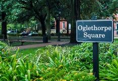 Oglethorpe Square royalty free stock photography