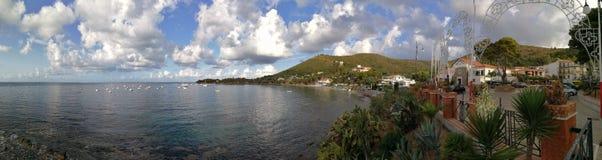 Ogliastro marina - överblick av kusten Royaltyfria Foton