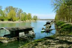 Oglio flod Arkivbilder