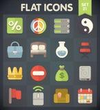 Ogólnoludzkiego mieszkania ikony dla sieci i wiszącej ozdoby Ustawiają 21 Obraz Stock