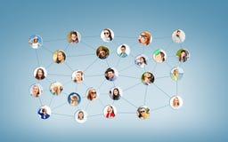 Ogólnospołeczna sieć Obrazy Stock