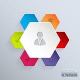 Ogólnospołeczna sieci odznaka z ikonami Zdjęcie Royalty Free