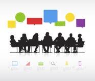 Ogólnospołeczny Biznesowy zgromadzenie wektor Obrazy Stock