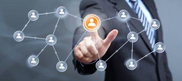 Ogólnospołeczny medialny interfejs Zdjęcie Stock
