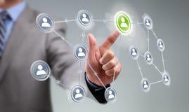 Ogólnospołeczny medialny interfejs Zdjęcia Stock
