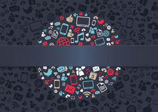Ogólnospołeczny Medialny tło Zdjęcia Stock