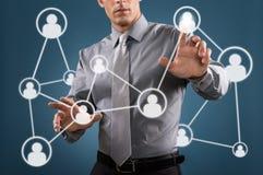 Ogólnospołeczny networking Zdjęcia Royalty Free
