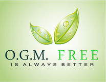 OGM free slogan Royalty Free Stock Photography