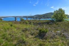 Ognasundbrua (bridge) in Rogaland, Norway Royalty Free Stock Image