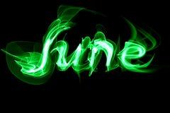 Ogniści listy słowo Czerwa zielony kolor Zdjęcia Stock