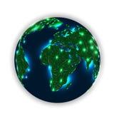 Ogni angolo del nostro pianeta nell'ambito della rete di intelligenza artificiale illustrazione di stock