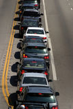 Ogni automobile sta girando a sinistra, Fotografia Stock