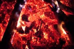 Ogniska gorący drewniany tło fotografia stock