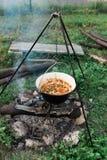 Ogniska jedzenie Zdjęcie Royalty Free