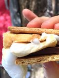 Ogniska s'more Fotografia Royalty Free