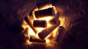 Ognisko Śnieżna rzeźba Zdjęcia Stock