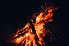 Ognisko noc zdjęcia stock