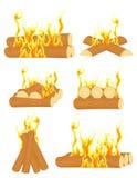 ognisko set Zdjęcie Stock