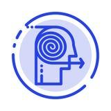 Ogniskowań rozwiązania, biznes, wysiłek, ostrość, ogniskowanie linii linii błękit Kropkująca ikona ilustracja wektor