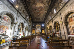 Ognissanti church, Florence, Italy Stock Photography