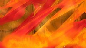 Ognista fantazi projekcja płomienie, symbol piekło, ciepła lawa od wulkanu, osocze substancja royalty ilustracja