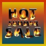 Ognista gorąca lato sprzedaż pojęcia projekta restauraci szablon Promocyjny marketingowy sztandaru plakat Obrazy Stock