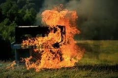 ogniste płomieni ilustracj pianina serie Płonący pianino Muzyka na ogieniu zdjęcie royalty free