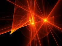 Ogniste rozjarzone ślimakowate trajektorie w przestrzeni Zdjęcia Royalty Free