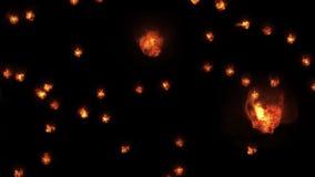 Ognistej gwiazdowej wybuchu błysku animaci sztuki tła błyszczącej loopable nowej ilości naturalni oświetleniowi lampowi promienie ilustracji