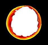 Ognisty okrąg ilustracja wektor