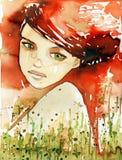 ognisty portret Fotografia Royalty Free