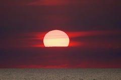 ognisty słońca Fotografia Stock