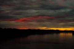 ognisty słońca Zdjęcie Royalty Free