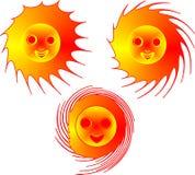 ognisty słońce Zdjęcie Stock