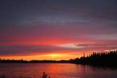 ognisty wschód słońca Obrazy Royalty Free