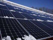 Ogniwo słoneczne dach Obraz Stock