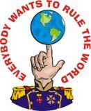 Ognuno vuole regolare il mondo Royalty Illustrazione gratis