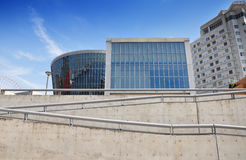 Ogołaca betonowego muzeum - Osaka, Japonia obraz royalty free