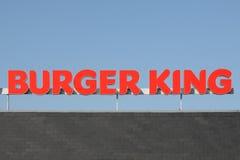 Ogo della catena Burger King degli alimenti a rapida preparazione Immagine Stock Libera da Diritti