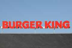 Ogo of the fast food chain Burger King Royalty Free Stock Image