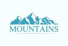 Ogo met Alpen-Bergen royalty-vrije illustratie