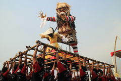 Ogoh ogoh. Balinese giant doll that symbolize evil creature Royalty Free Stock Photos