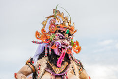 Ogoh-Ogoh, demon statua robić dla Ngrupuk parady prowadził w wigilię Nyepi dnia Zakończenie Obrazy Royalty Free