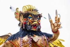 Ogoh-ogoh en Bali, Indonesia Ogoh-ogoh es estatuas construidas para el desfile de Ngrupuk, que ocurre la víspera del día de Nyepi Imagen de archivo libre de regalías