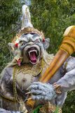 Ogoh-ogoh statue built for the Ngrupuk parade, which takes place on the even of Nyepi day in Bali island, Indonesia Stock Photography