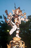 Ogoh-Ogoh Statues, Bali, Indonesia. Image of Ogoh-ogoh statues at Bali, Indonesia. These statues together with many others are paraded on the streets during Stock Photo