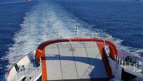 Ogon ferryboat z chełbotanie wodą zdjęcie wideo